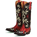 Lane Boots Women's Black/ Red 'Margaret' Cowboy Boots
