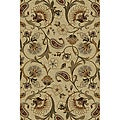 Infinity Collection Ivory/ Beige Area Rug (5&#39;3 x 7&#39;3)