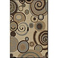 Flora Collection Ivory/ Multi Rug (5&#39;3 x 7&#39;3)