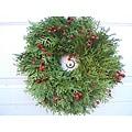Fresh Cedar and Rosehip 24-inch Wreath