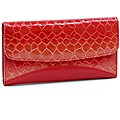Vani Faux Leather Embossed Snake Skin Checkbook Wallet