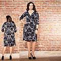 Kiyonna Women&#39;s Plus Size Samantha Floral Cinch Dress
