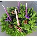 Fresh 20-inch Balsam Advent Wreath Centerpiece