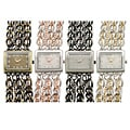Geneva Platinum Women's Rectangular Face Link Watch