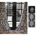 Arabella 84&quot;L Flocked Curtain Panel