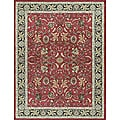 "Dorchester Red/ Charcoal Powerloomed Rug (3'9"" x 5'6"")"