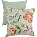 Pillow Perfect Green Modern Floral Throw Pillow