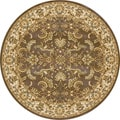 "Dorchester Chocolate/ Beige Powerloomed Rug (7'7""Round)"