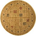 Magnificent Panel Tabriz Rug (5'3 Round)