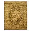 Green Medallion Kars Tabriz Rug (7&#39;10 x 9&#39;10)
