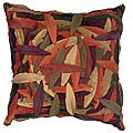 LNR Home Multi-colored Zant Leaves 18-inch Pillow (Set of 2)