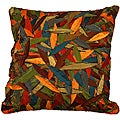 LNR Home Multi-colored Primitive Leaves 18-inch Pillow (Set of 2)