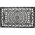 Sunburst Recycled Rubber Doormat (1'6 x 2'6)