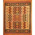 Indo Tribal Kilim Wool Rug (8' x 10')