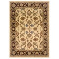 Cream/Brown Oriental Rug (5'3 x 7'5)