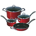 Chantal 80-7RE Copper Fusion 7 Piece Cookware Set, Chili Red