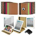 Apple iPad 2 Premium 360-degree Folding Stand Case and USB Car Charger