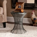 Cordoba Indoor/Outdoor Silver Round Side Table