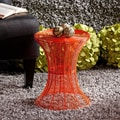 Cordoba Indoor/Outdoor Orange Round Side Table