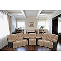Media Sectional Three Reclining Seats