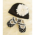 Black and White Polka Dot Baby Gift Set