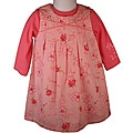 Laura Ashley Girl&#39;s Flowered Coral Jumper Dress