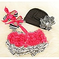 Zebra Print Hot Pink Baby Girls Gift Set