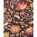 Hand-tufted Metro Flower Chocolate Wool Rug (10' x 12')