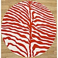 Alliyah Handmade New Zeeland Blend Safari Orange Wool Rug (6' Round)