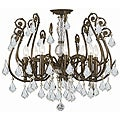 Crystorama Regis English Bronze 8-Light Semi-Flush Fixture