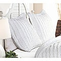 Ruffled White Quilted Shams (Set of 2)