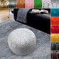 nuLOOM Handmade Casual Living Leather Moroccan Ottoman Pouf