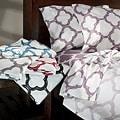 Lyon Cotton Rich Percale 300 Thread Count Queen Sheet Set