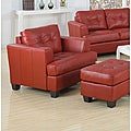 Acme Red Bonded Leather Chair