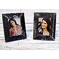 Set of 2 Boatwood Black Photo Frames (Thailand)