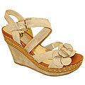 Bucco Women&#39;s Beige &#39;Almeda&#39; Wedges