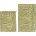 Celebration 'Palm Tree' Cotton 2-piece Bath Rug Set