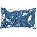 Poppy Blue 12x20-inch Outdoor Pillow