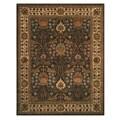 Hand Tufted Morris Brown Wool Rug (9' x 12')
