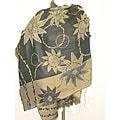 Selection Privee Paris EMMA Floral Black Camel' Embroidered Wool Shawl