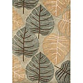 Handmade Floral New Zealand Wool-Blend Rug (5' x 8')