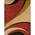 Handmade Beige New Zealand Wool-Blend Rug (8' x 10')