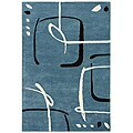 Hand-Tufted Blue Wool Rug (2' x 3')