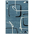 Hand-Tufted Blue Wool Rug (3'6 x 5'6)