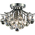 Elegant Lighting 3-light Chrome Flush-Mount Chandelier