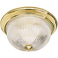 Two Light Polished Brass Flush Mount