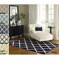 Hand-hooked Alexa Moroccan Trellis Wool Rug (8&#39;6 x 11&#39;6)