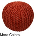 Handmade Casual Living Disco Cables Pouf