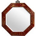 Red Lacquer Octagonal Mirror (China)