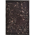 Hand-tufted Brown Multicolor Rug (5' x 7'6)
